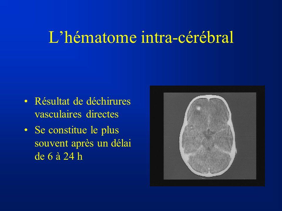 L'hématome intra-cérébral