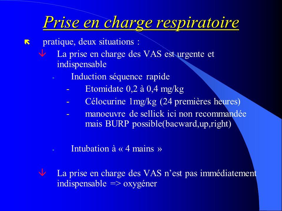 Prise en charge respiratoire