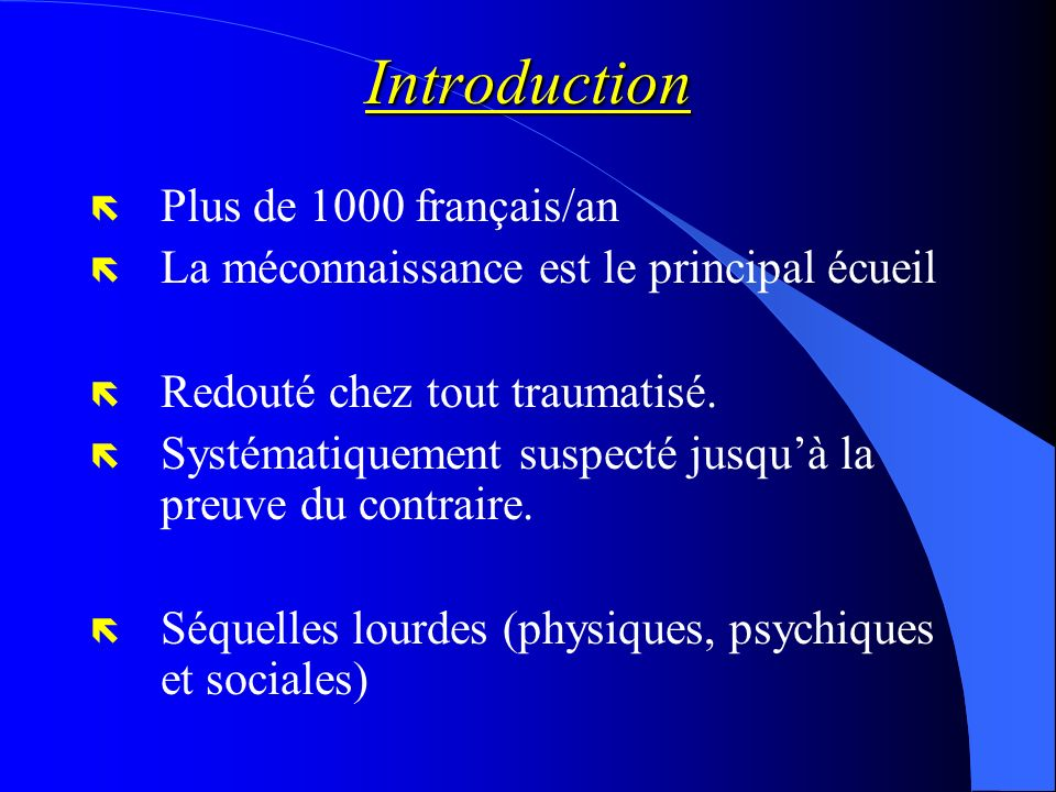 Introduction Plus de 1000 français/an