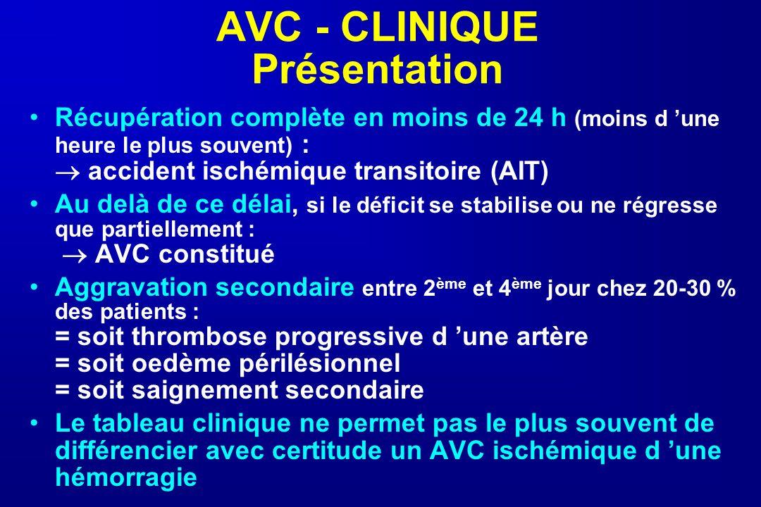 AVC - CLINIQUE Présentation