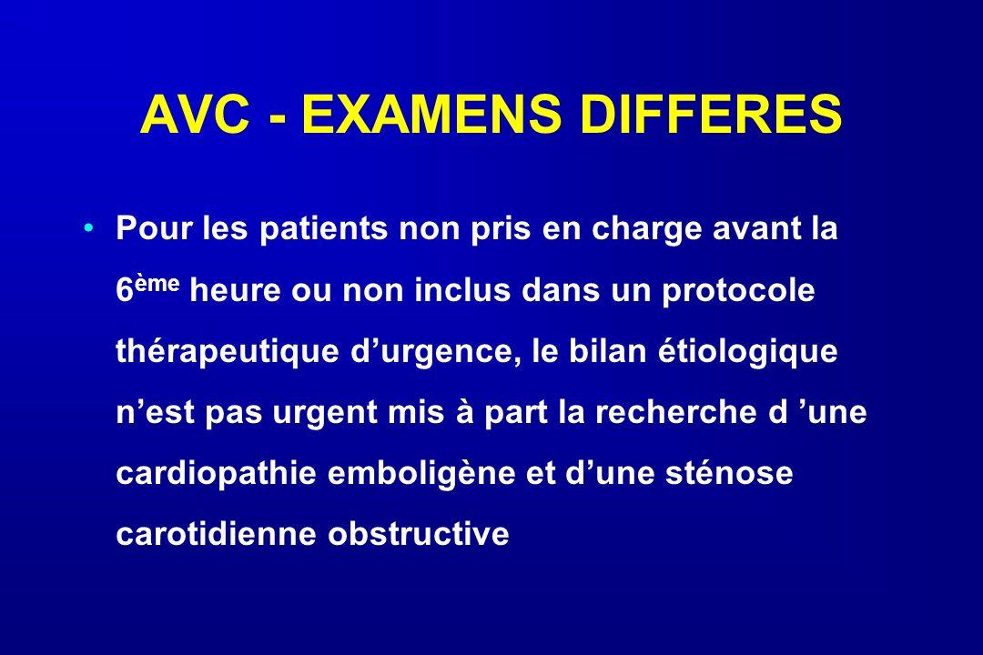 AVC - EXAMENS DIFFERES