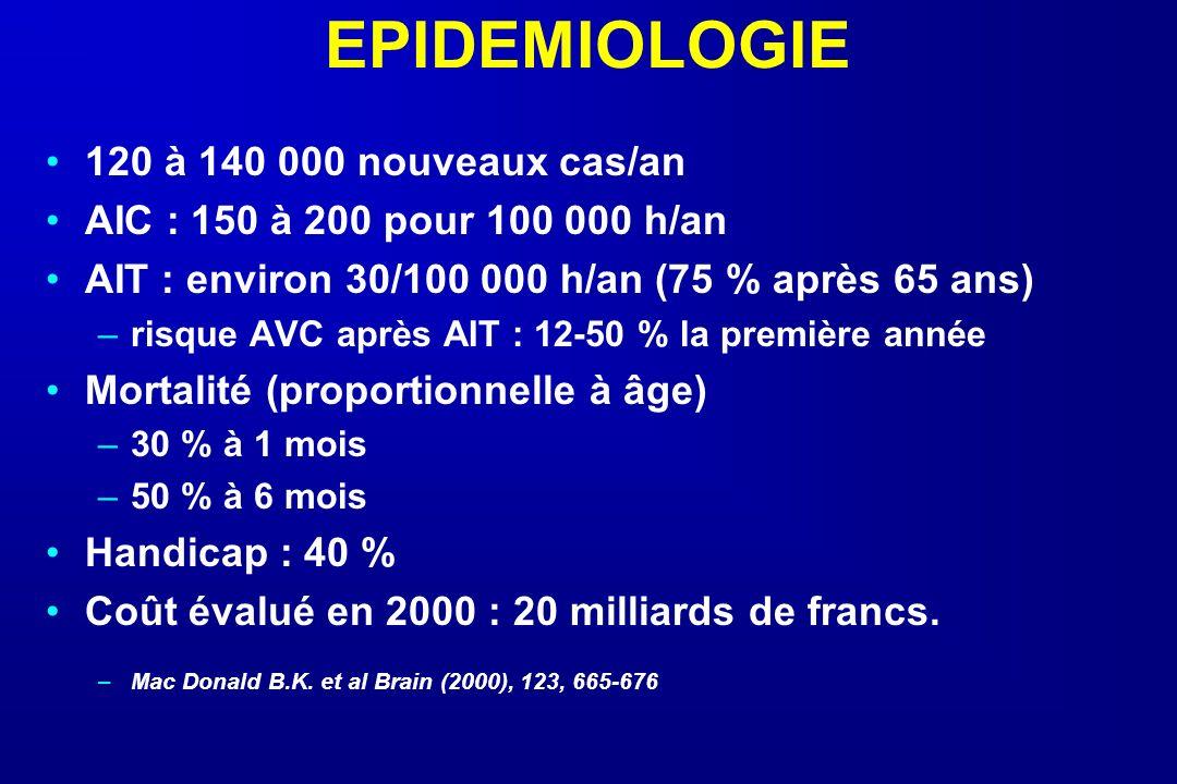 EPIDEMIOLOGIE 120 à 140 000 nouveaux cas/an