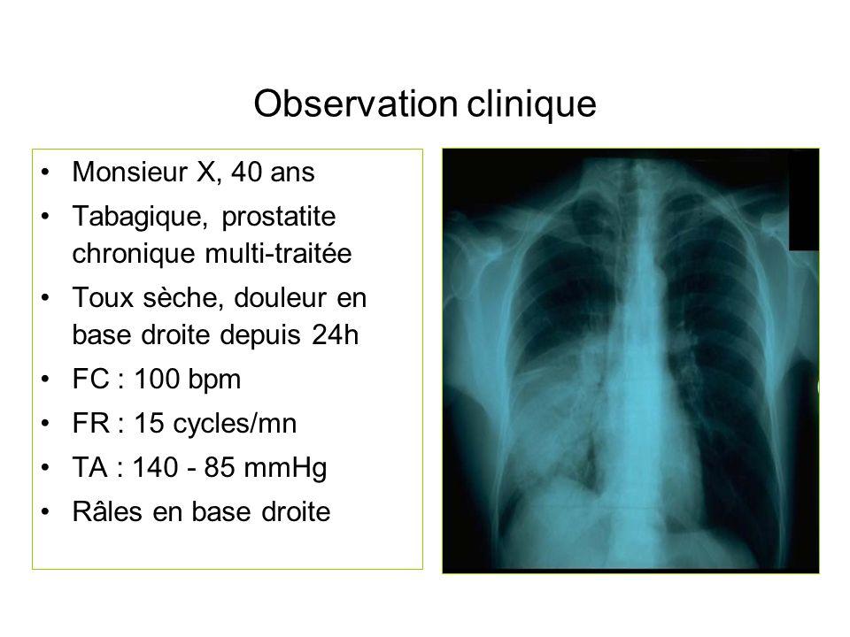 Observation clinique Monsieur X, 40 ans