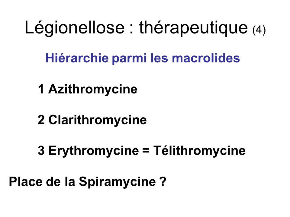 Légionellose : thérapeutique (4)
