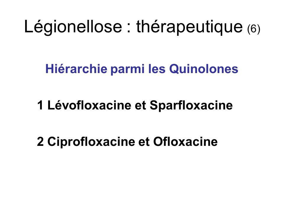 Légionellose : thérapeutique (6)