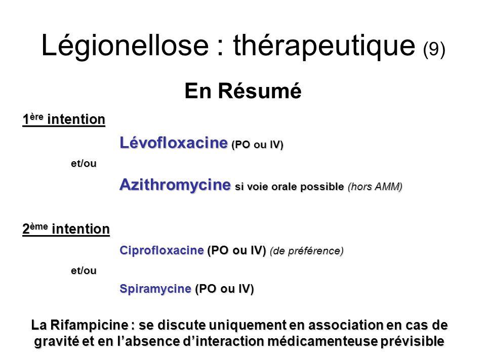 Légionellose : thérapeutique (9)