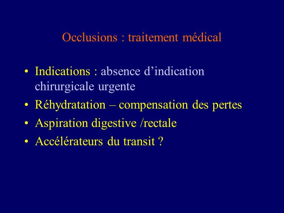 Occlusions : traitement médical