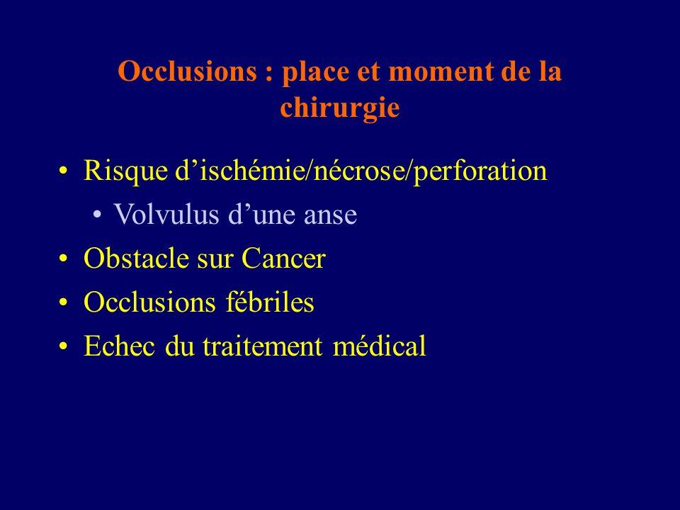 Occlusions : place et moment de la chirurgie