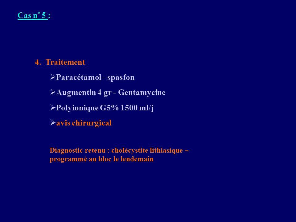 Augmentin 4 gr - Gentamycine Polyionique G5% 1500 ml/j