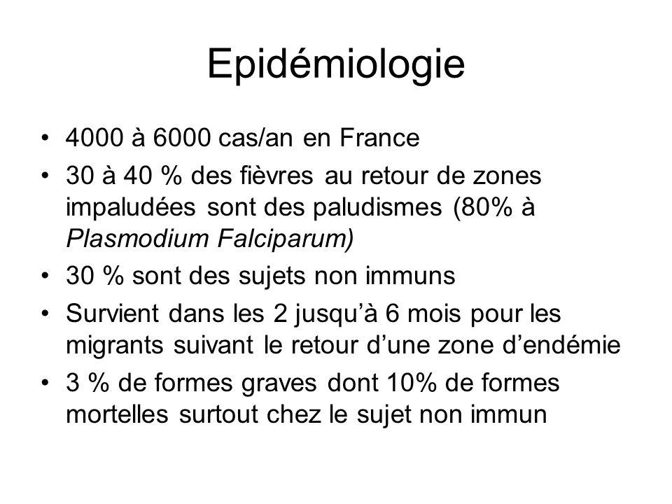 Epidémiologie 4000 à 6000 cas/an en France