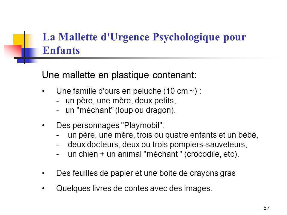 La Mallette d Urgence Psychologique pour Enfants