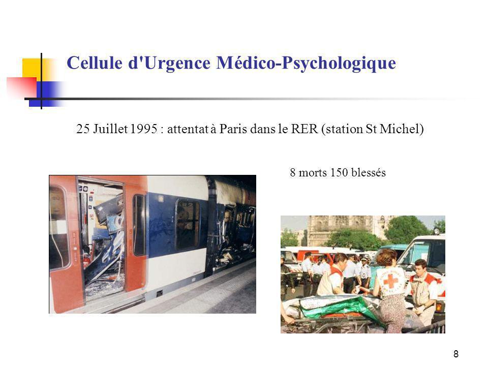 25 Juillet 1995 : attentat à Paris dans le RER (station St Michel)