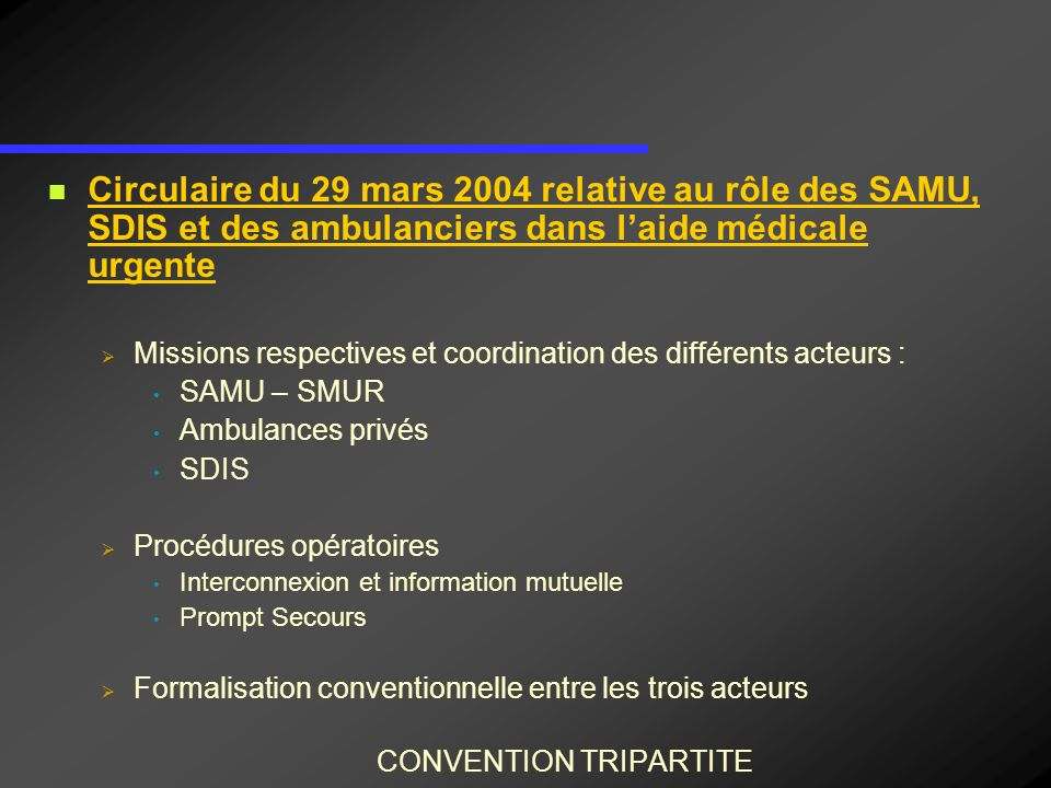 CONVENTION TRIPARTITE