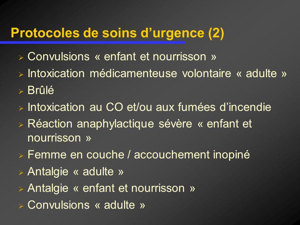 Protocoles de soins d'urgence (2)