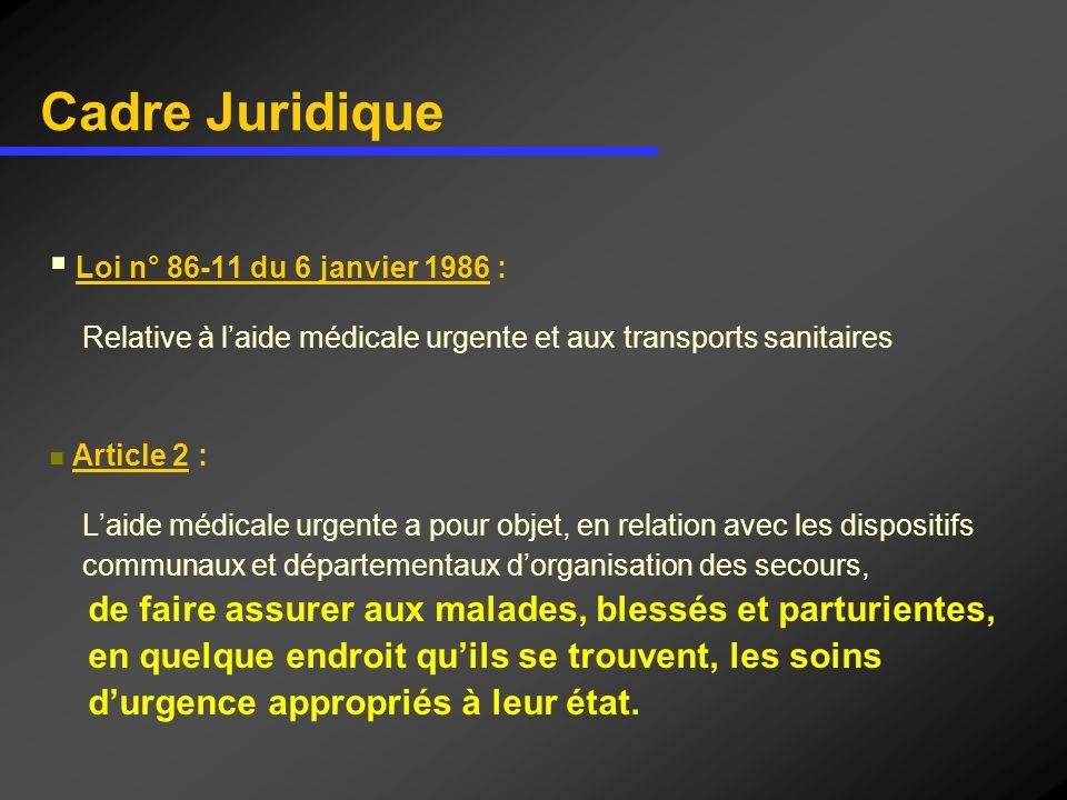 Cadre Juridique de faire assurer aux malades, blessés et parturientes,