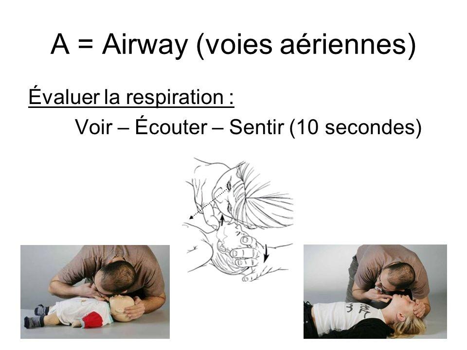 A = Airway (voies aériennes)