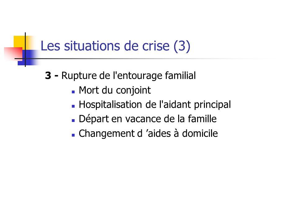 Les situations de crise (3)
