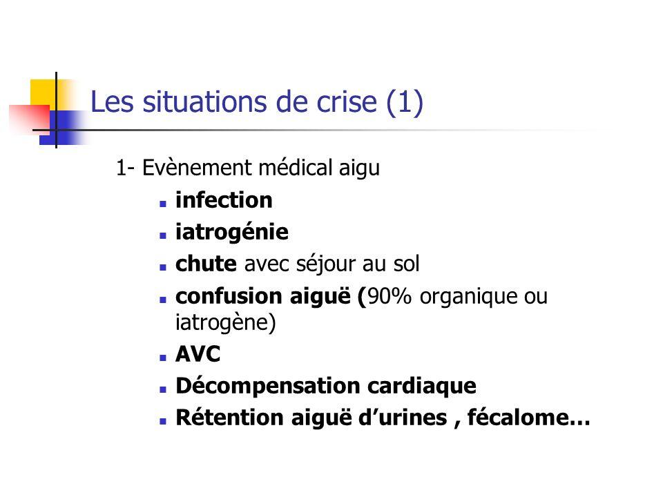 Les situations de crise (1)