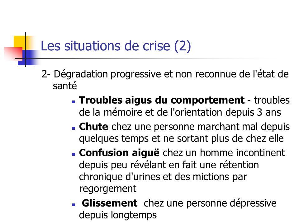 Les situations de crise (2)