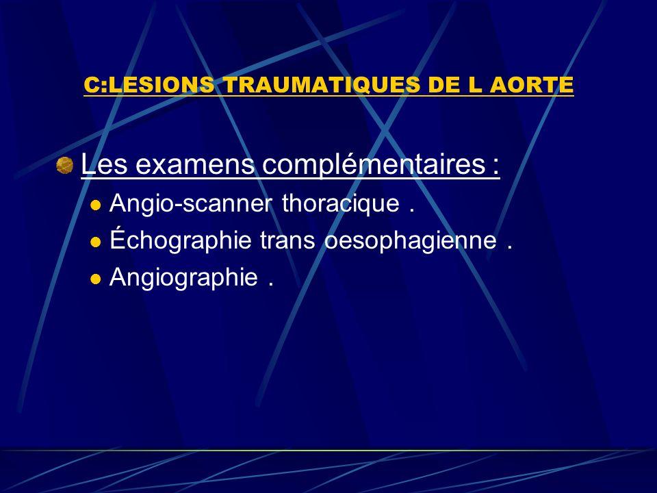 C:LESIONS TRAUMATIQUES DE L AORTE