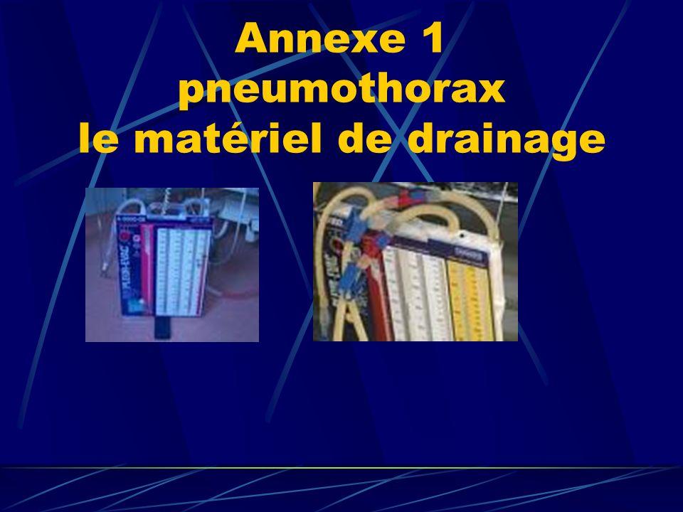 Annexe 1 pneumothorax le matériel de drainage