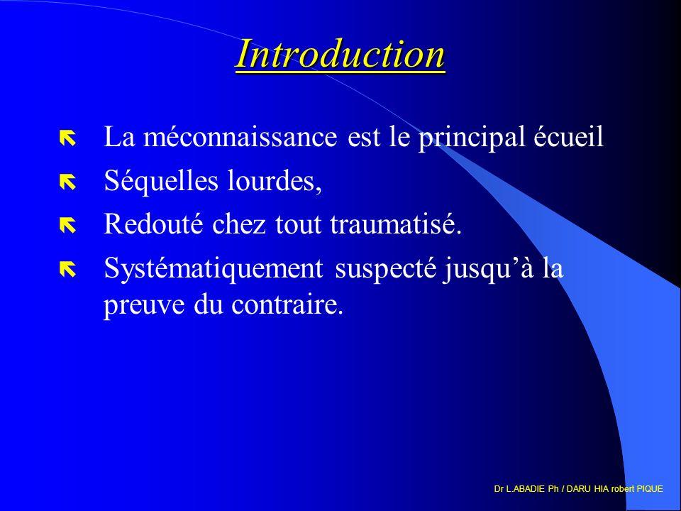 Introduction La méconnaissance est le principal écueil