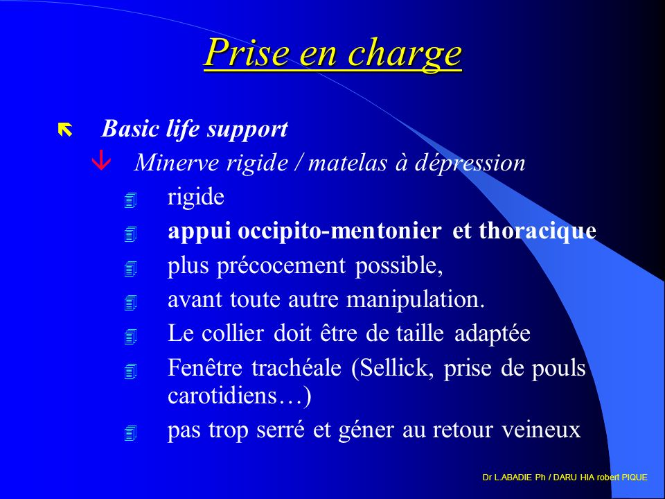 Prise en charge Basic life support