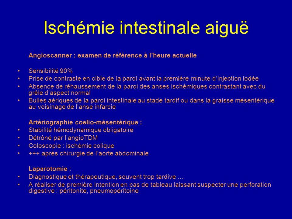 Ischémie intestinale aiguë