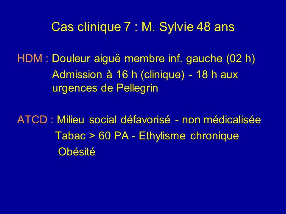 Cas clinique 7 : M. Sylvie 48 ans