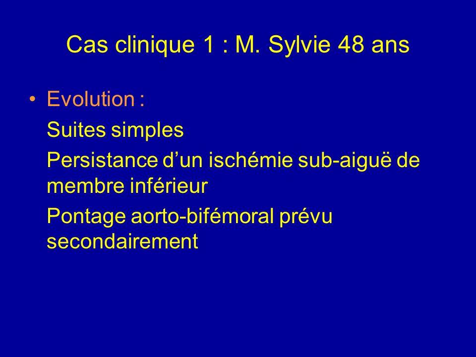 Cas clinique 1 : M. Sylvie 48 ans