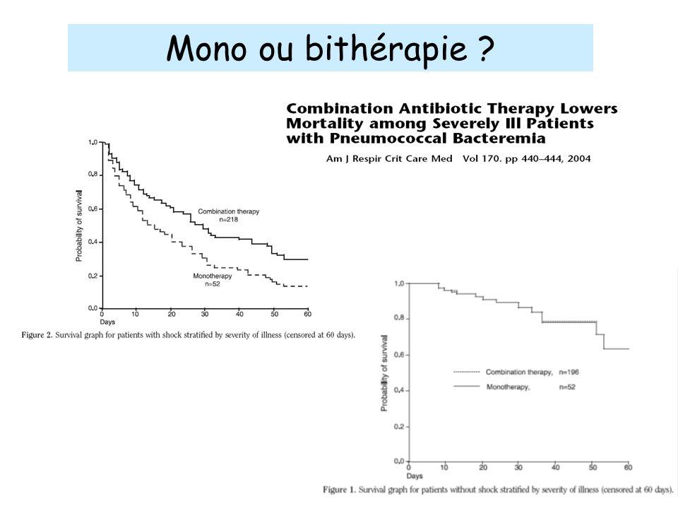 Mono ou bithérapie