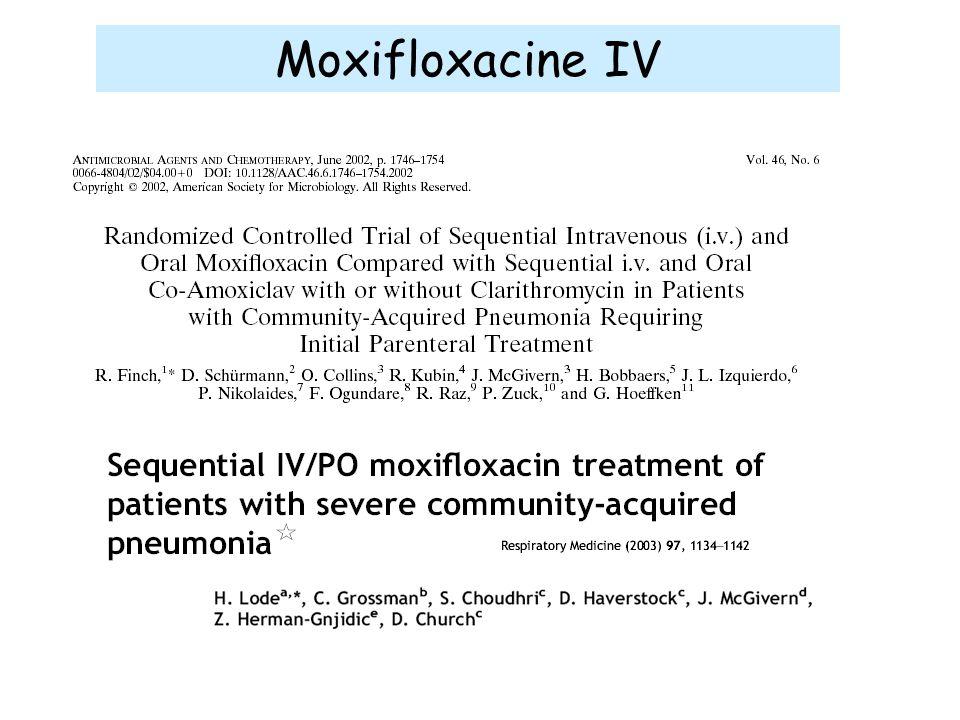 Moxifloxacine IV