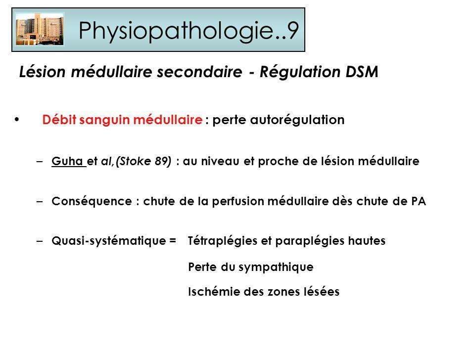 Physiopathologie..9 Lésion médullaire secondaire - Régulation DSM