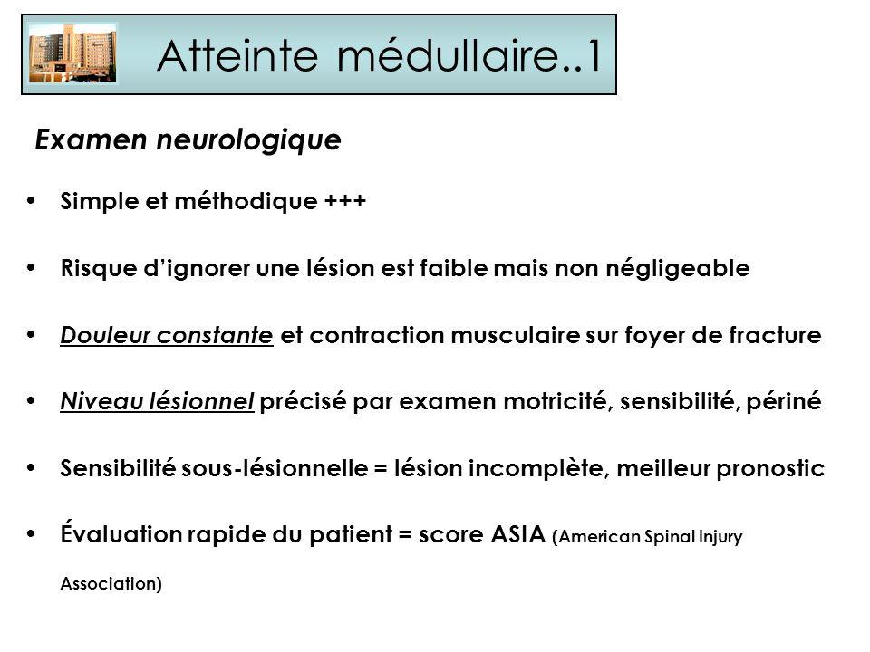 Atteinte médullaire..1 Examen neurologique Simple et méthodique +++