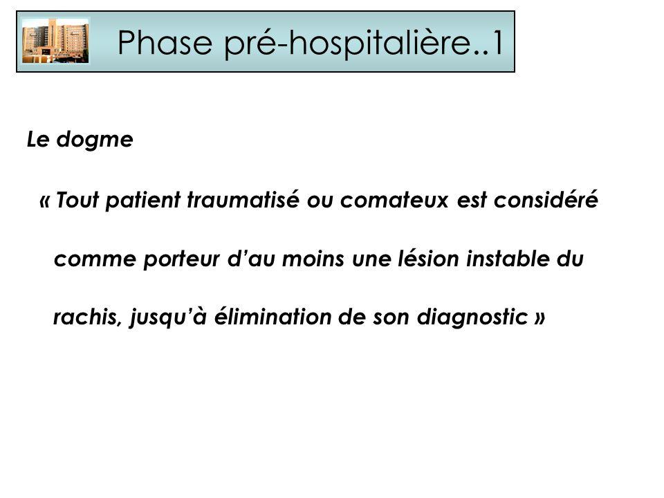Phase pré-hospitalière..1