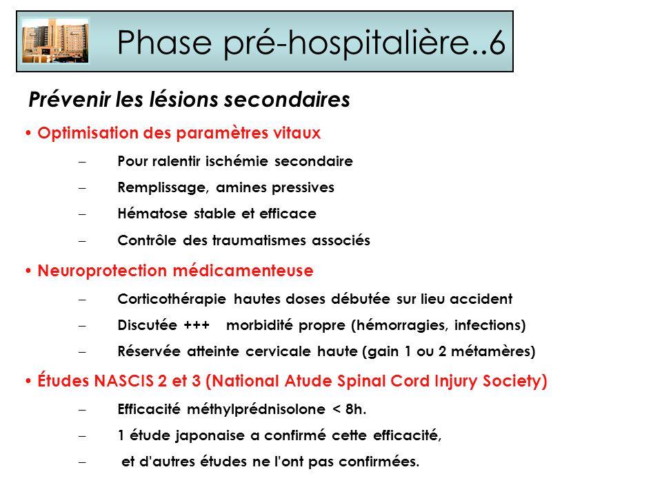 Phase pré-hospitalière..6