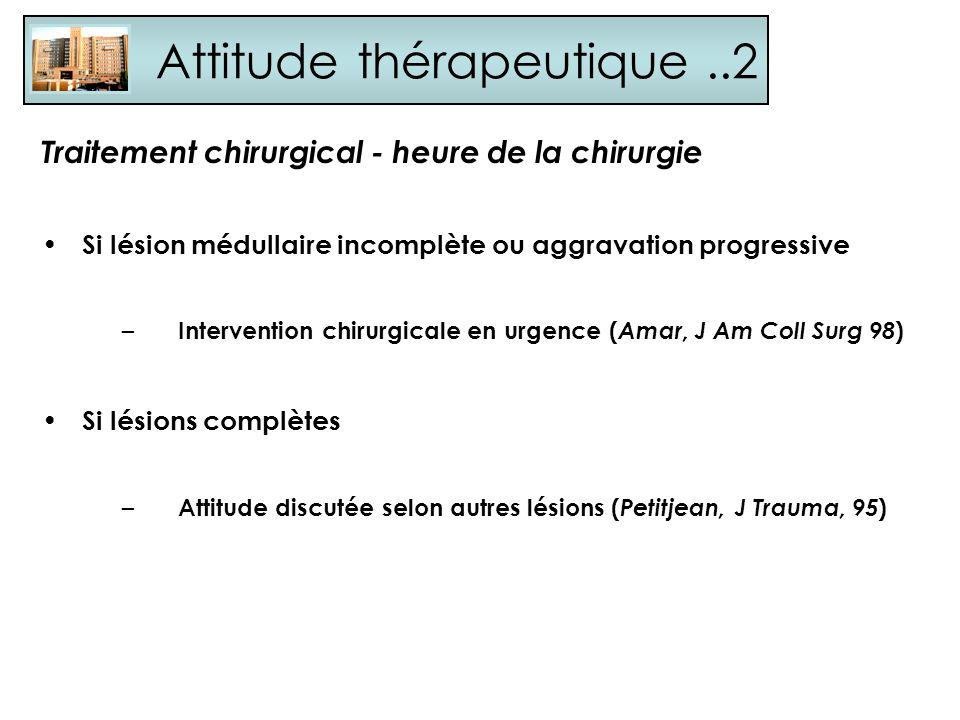 Attitude thérapeutique ..2