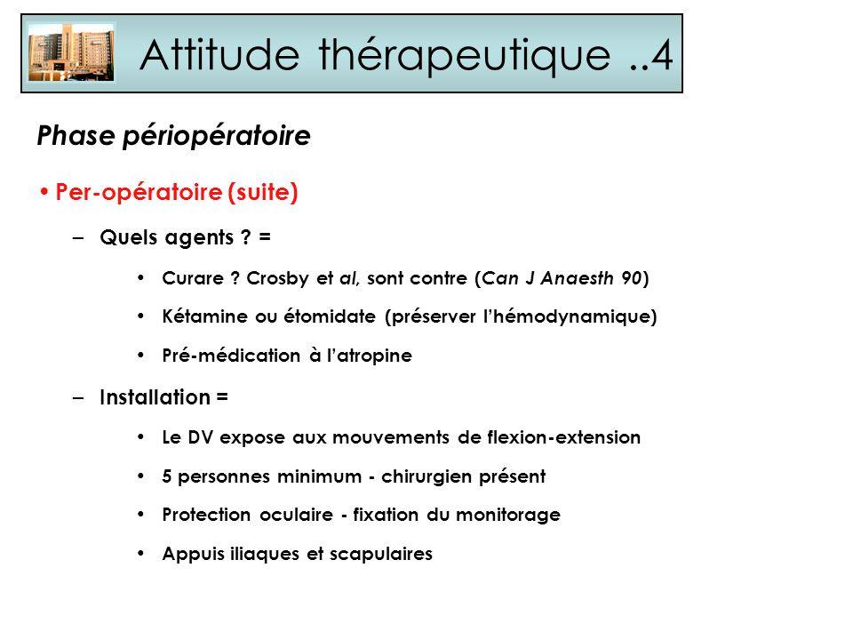 Attitude thérapeutique ..4