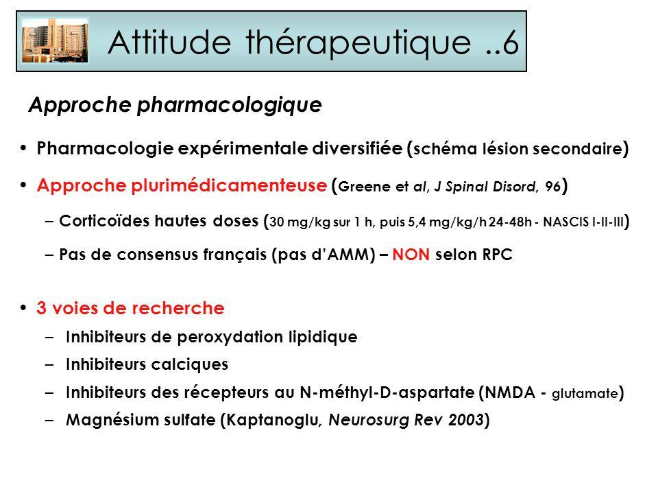 Attitude thérapeutique ..6