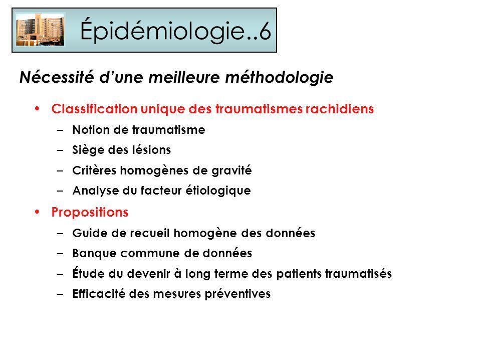 Épidémiologie..6 Nécessité d'une meilleure méthodologie