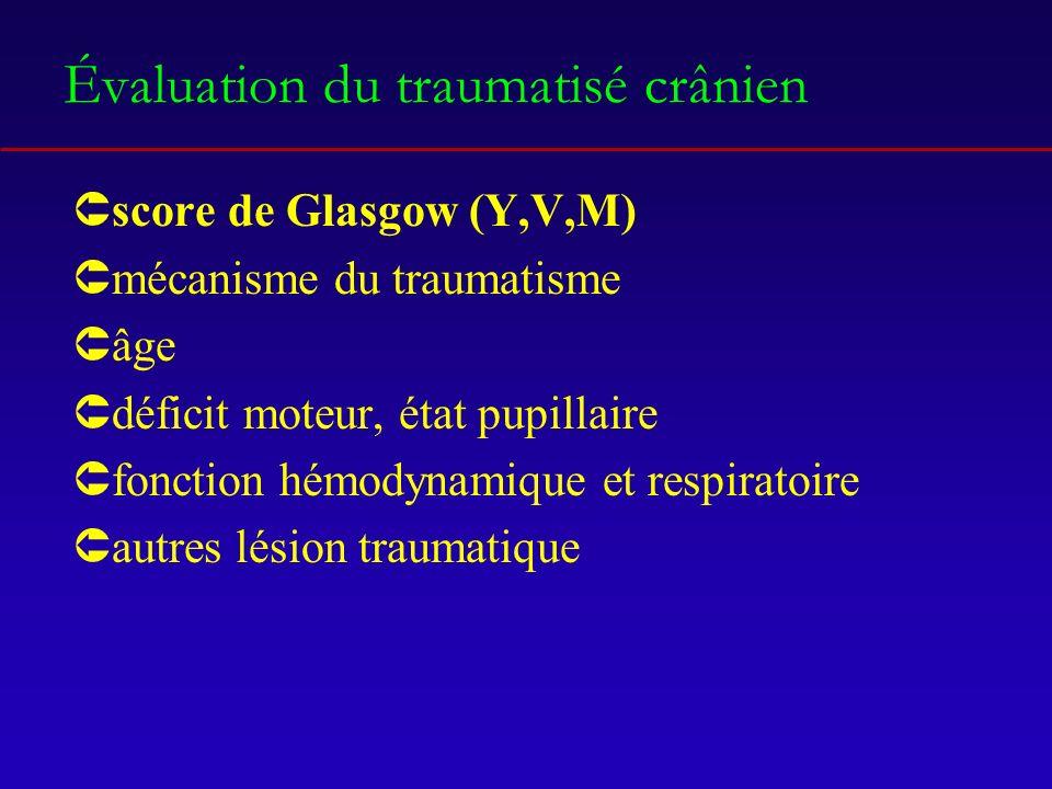 Évaluation du traumatisé crânien