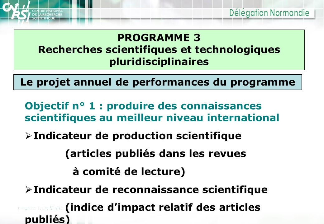 Recherches scientifiques et technologiques pluridisciplinaires