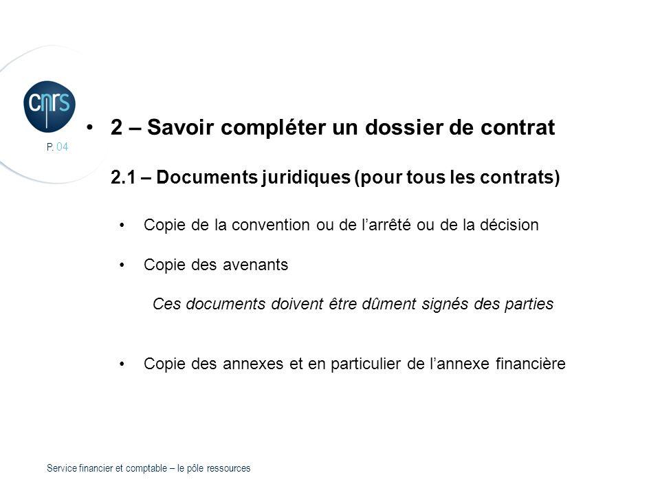 2 – Savoir compléter un dossier de contrat