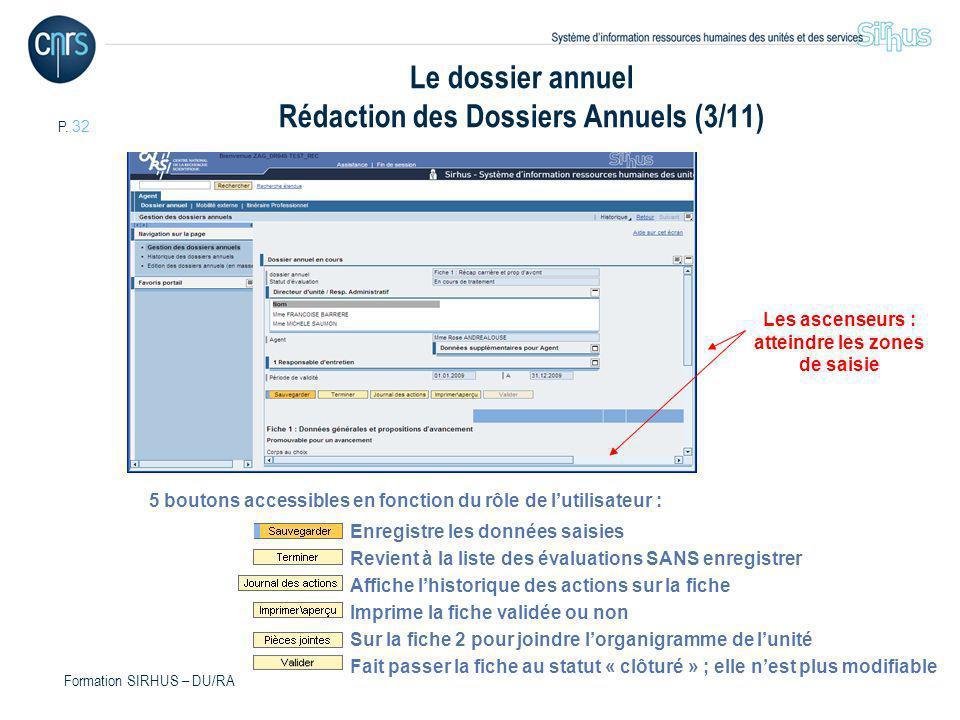 Le dossier annuel Rédaction des Dossiers Annuels (3/11)