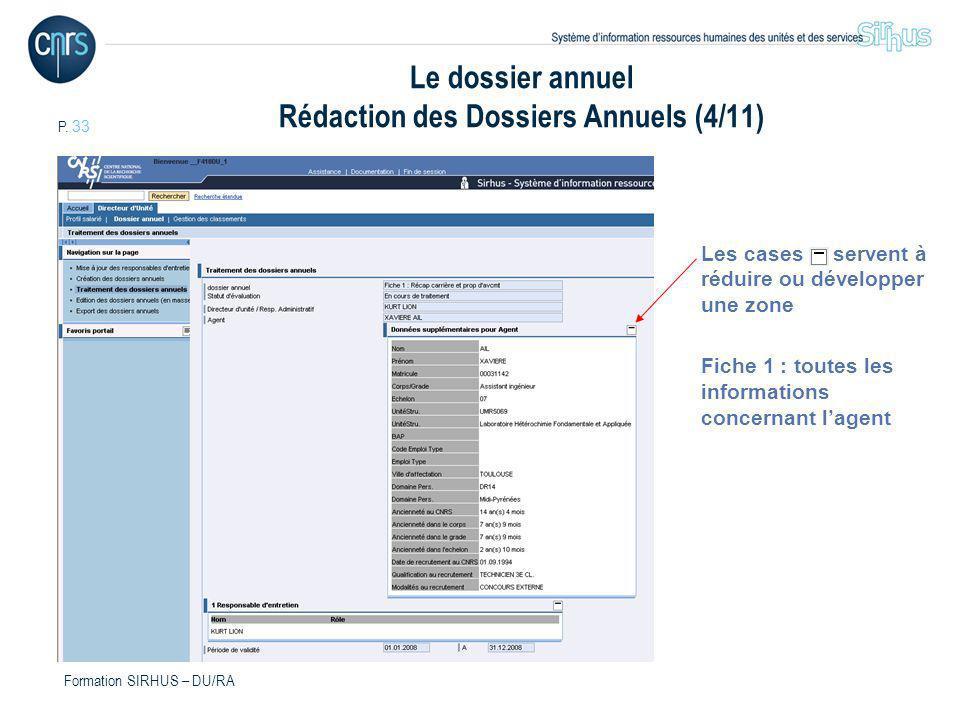 Le dossier annuel Rédaction des Dossiers Annuels (4/11)