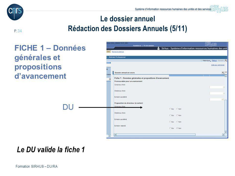 Le dossier annuel Rédaction des Dossiers Annuels (5/11)
