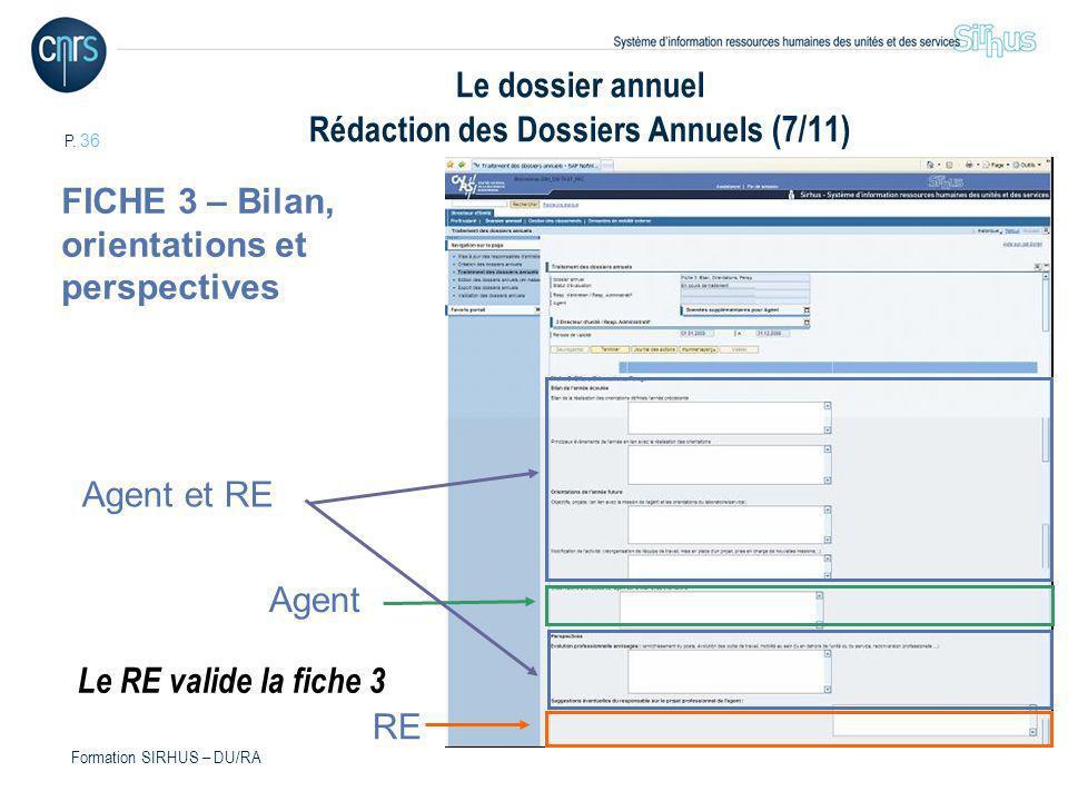 Le dossier annuel Rédaction des Dossiers Annuels (7/11)