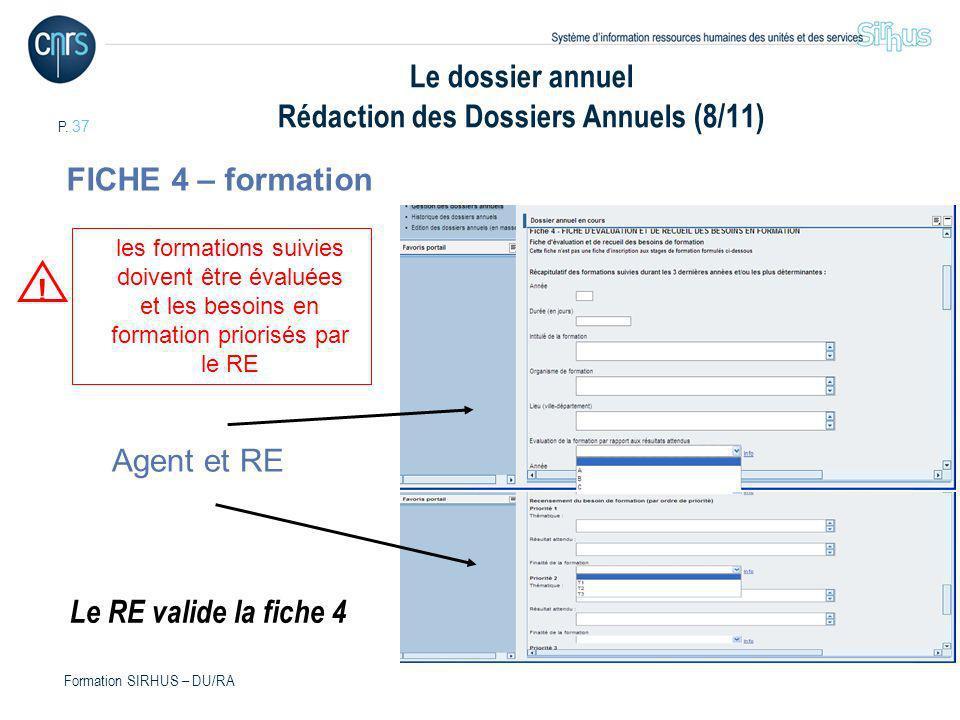 Le dossier annuel Rédaction des Dossiers Annuels (8/11)