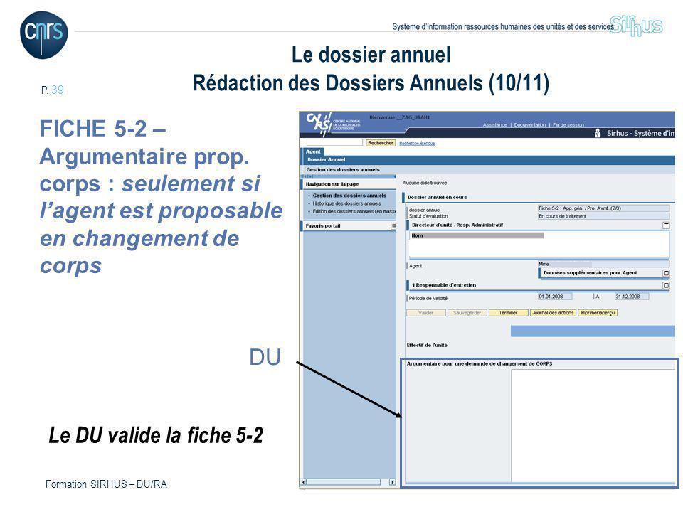 Le dossier annuel Rédaction des Dossiers Annuels (10/11)