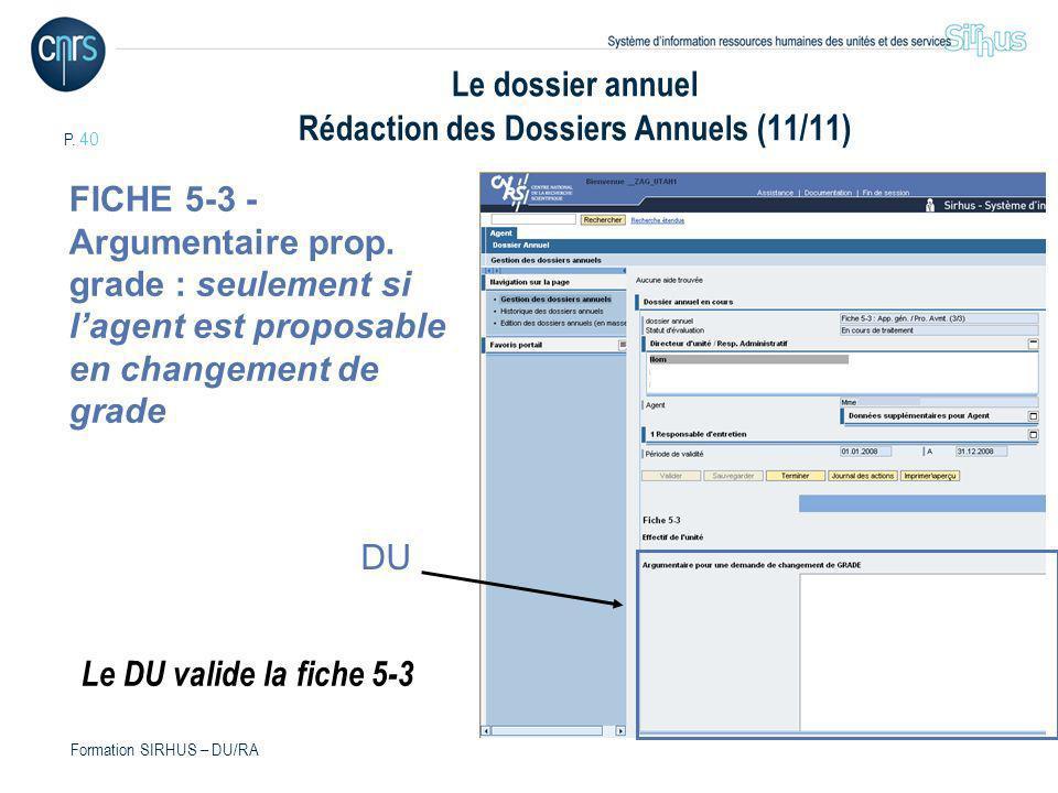 Le dossier annuel Rédaction des Dossiers Annuels (11/11)